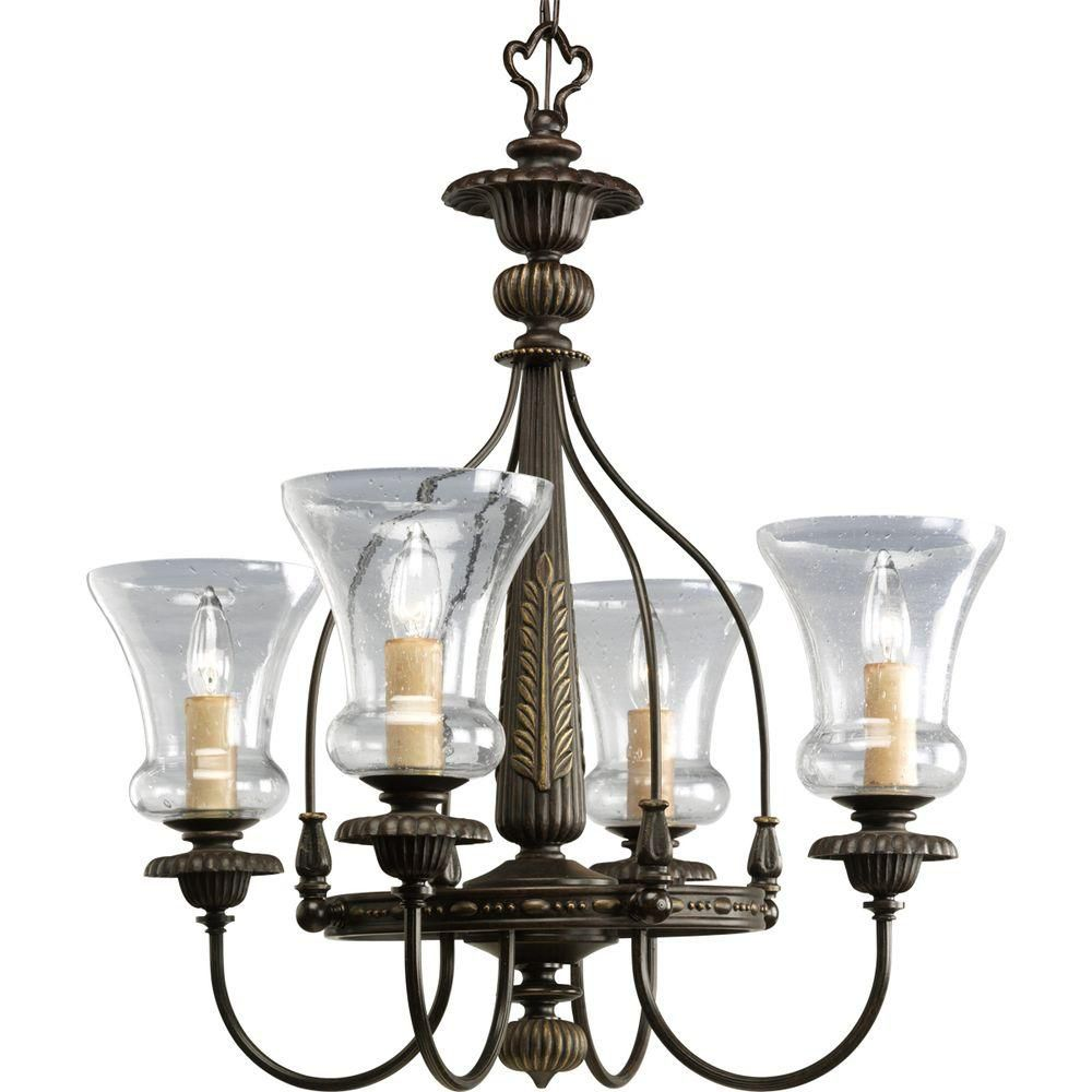 Fiorentino Collection Forged Bronze 4-light Chandelier