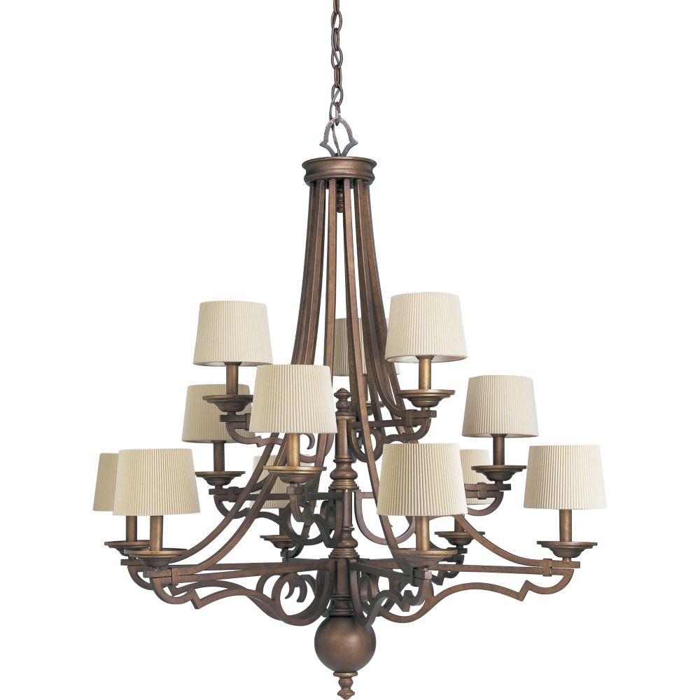 Meeting Street Collection Roasted Java 12-light Chandelier