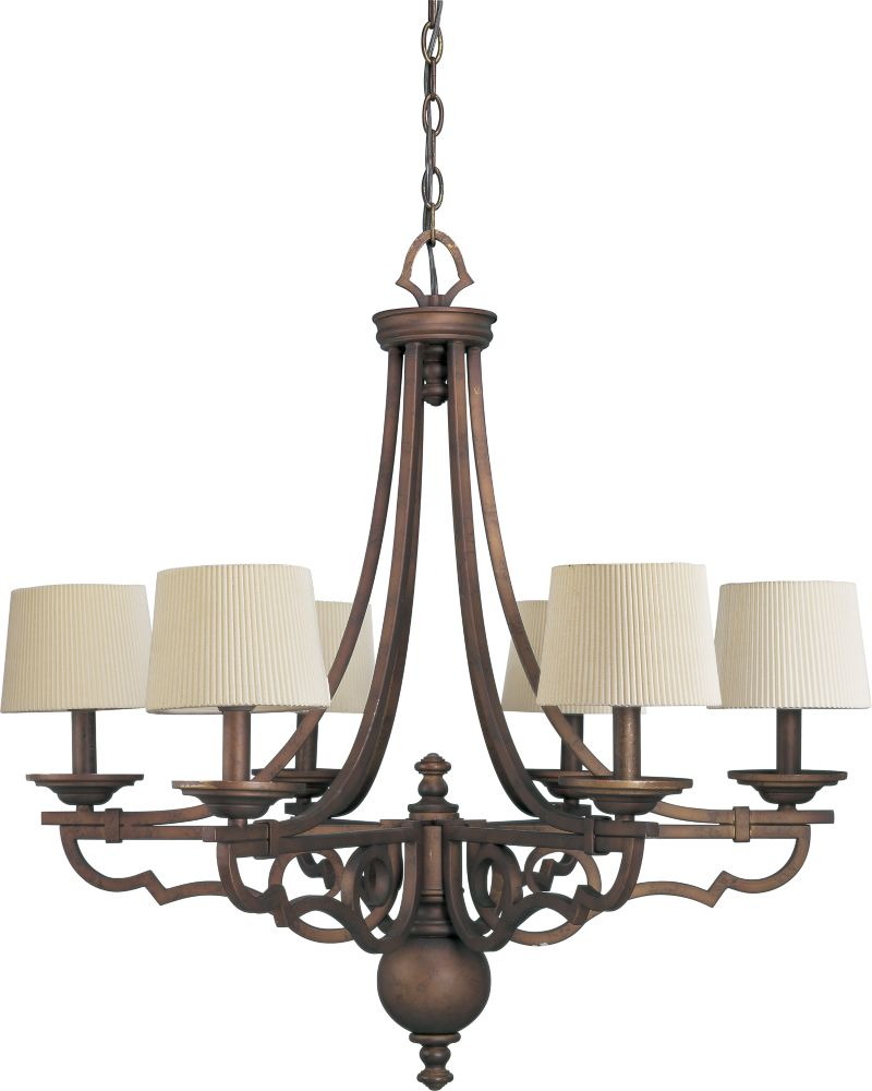 Meeting Street Collection Roasted Java 6-light Chandelier