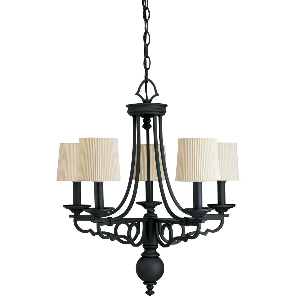 Meeting Street Collection Forged Black 5-light Chandelier