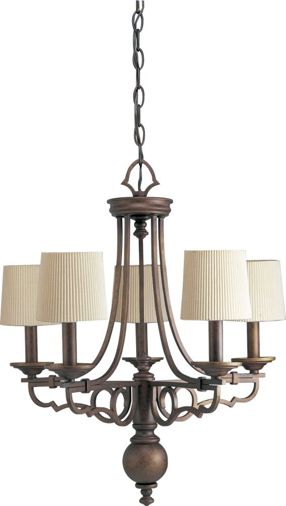 Meeting Street Collection Roasted Java 5-light Chandelier
