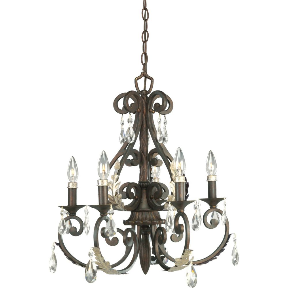 Savona Collection Cognac 5-light Chandelier