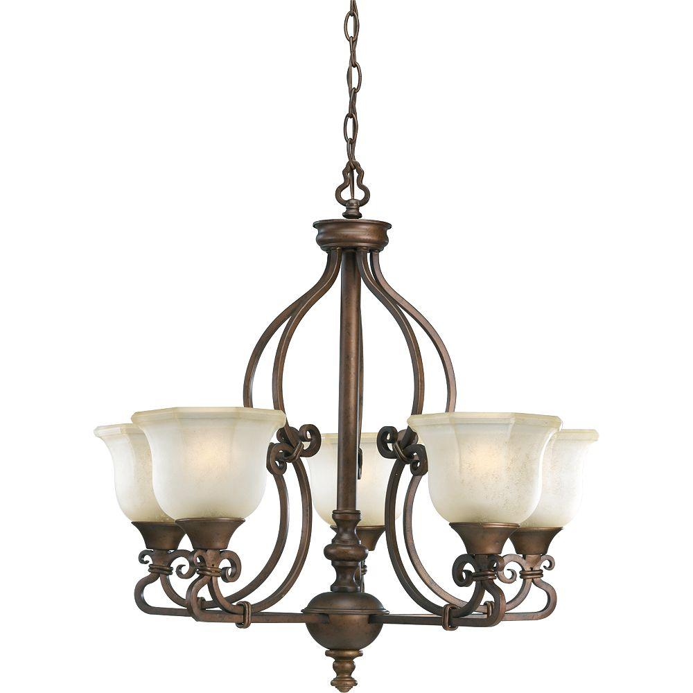 Thomasville Lighting Lustre à 5 Lumières, Collection Guildhall - fini Café Rôti