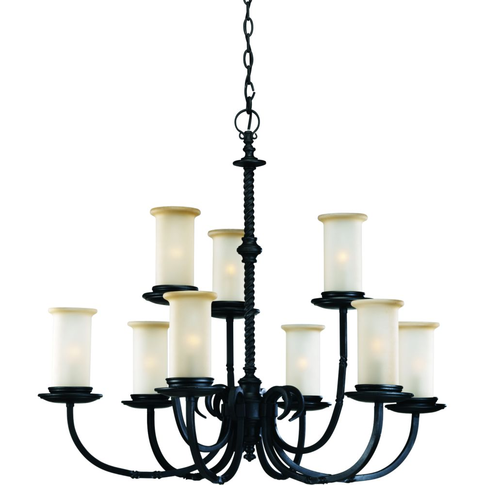 Santiago Collection Forged Black 9-light Chandelier