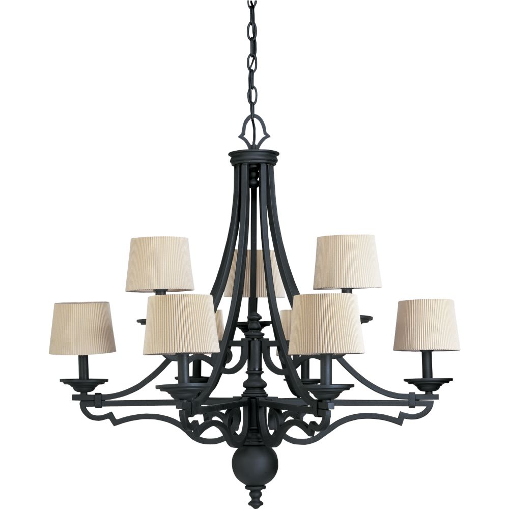 Meeting Street Collection Forged Black 9-light Chandelier
