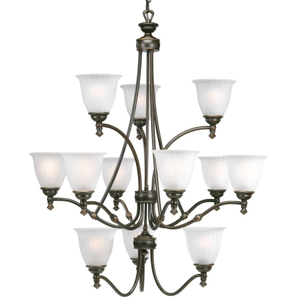 Renovations Collection Antique Nickel 12-light Chandelier