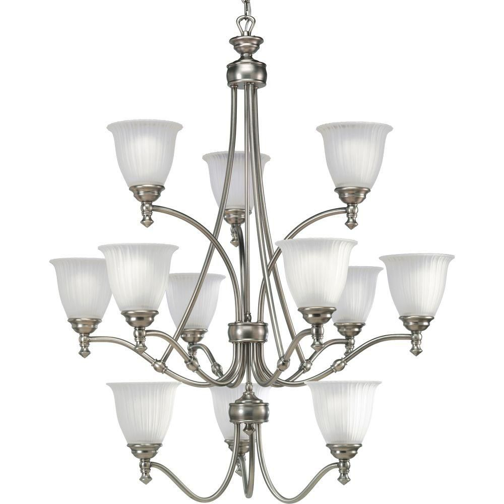 Renovations Collection Forged Bronze 12-light Chandelier
