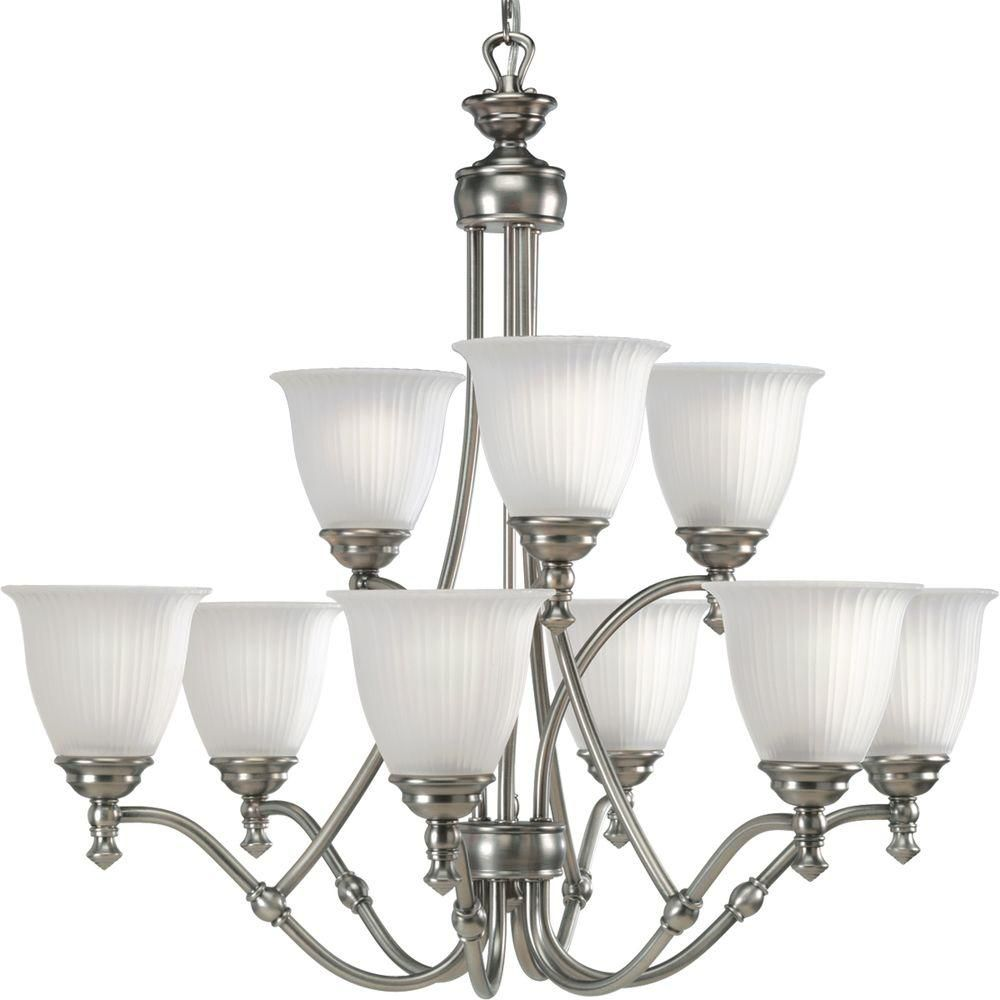 Renovations Collection Antique Nickel 9-light Chandelier