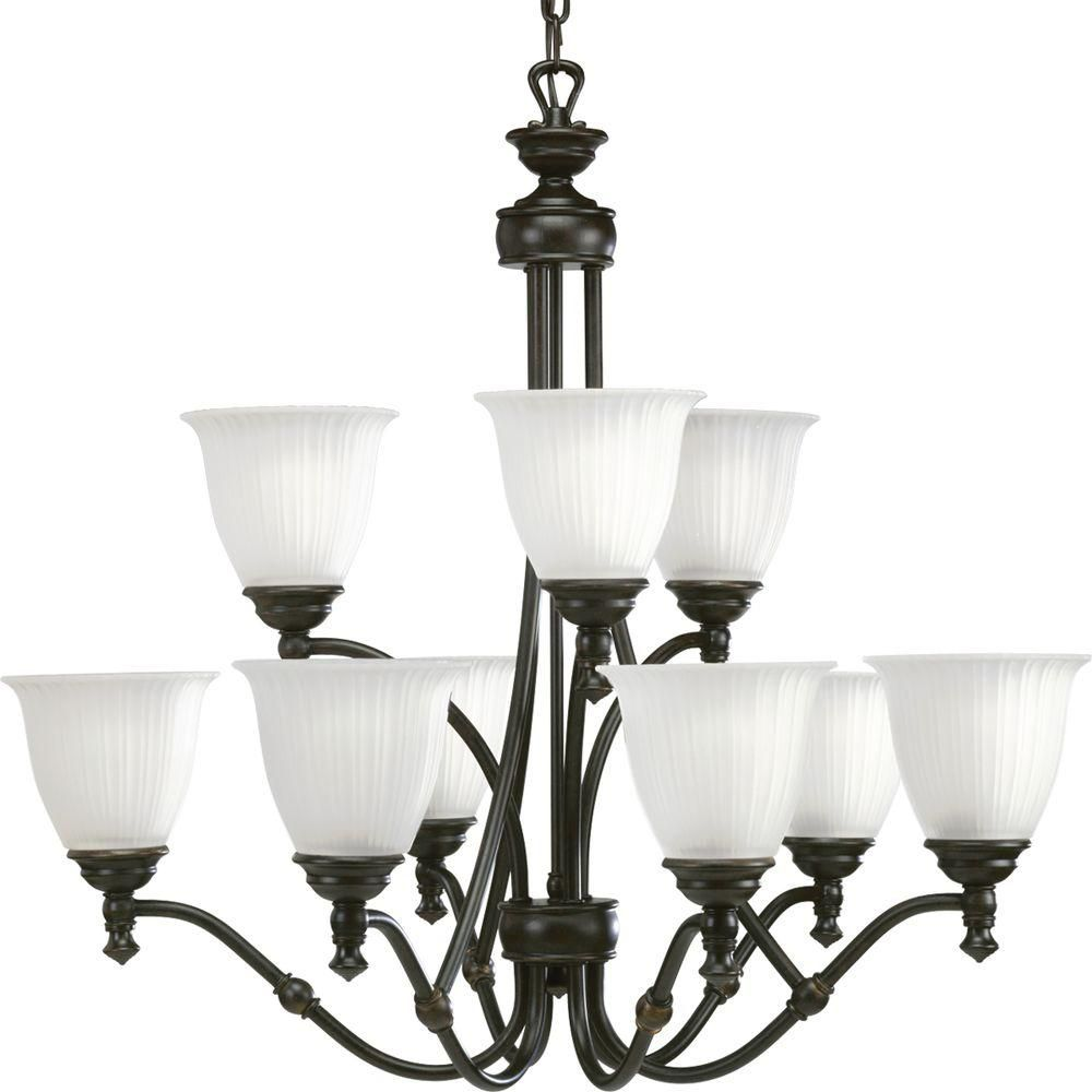 Renovations Collection Forged Bronze 9-light Chandelier