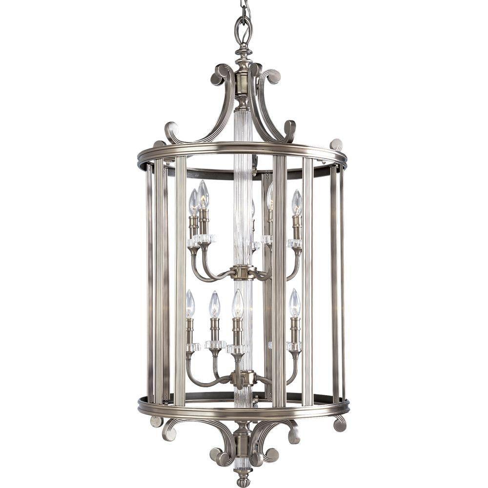 Roxbury Collection Classic Silver 10-light Foyer Pendant