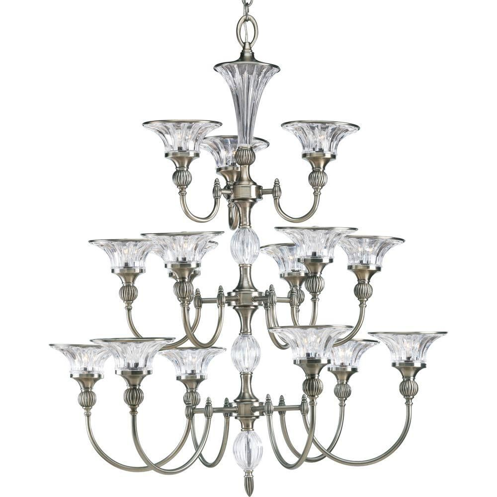 Roxbury Collection Classic Silver 15-light Chandelier