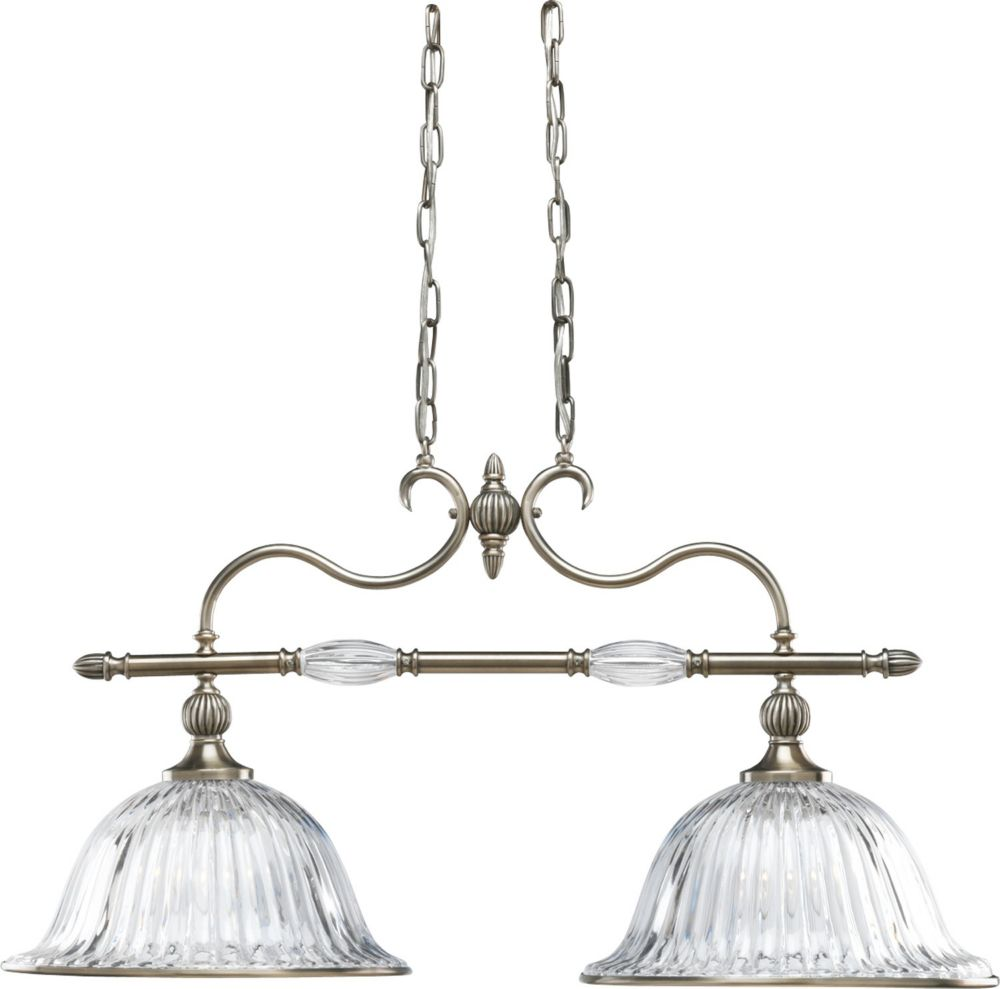 Roxbury Collection Classic Silver 2-light Chandelier