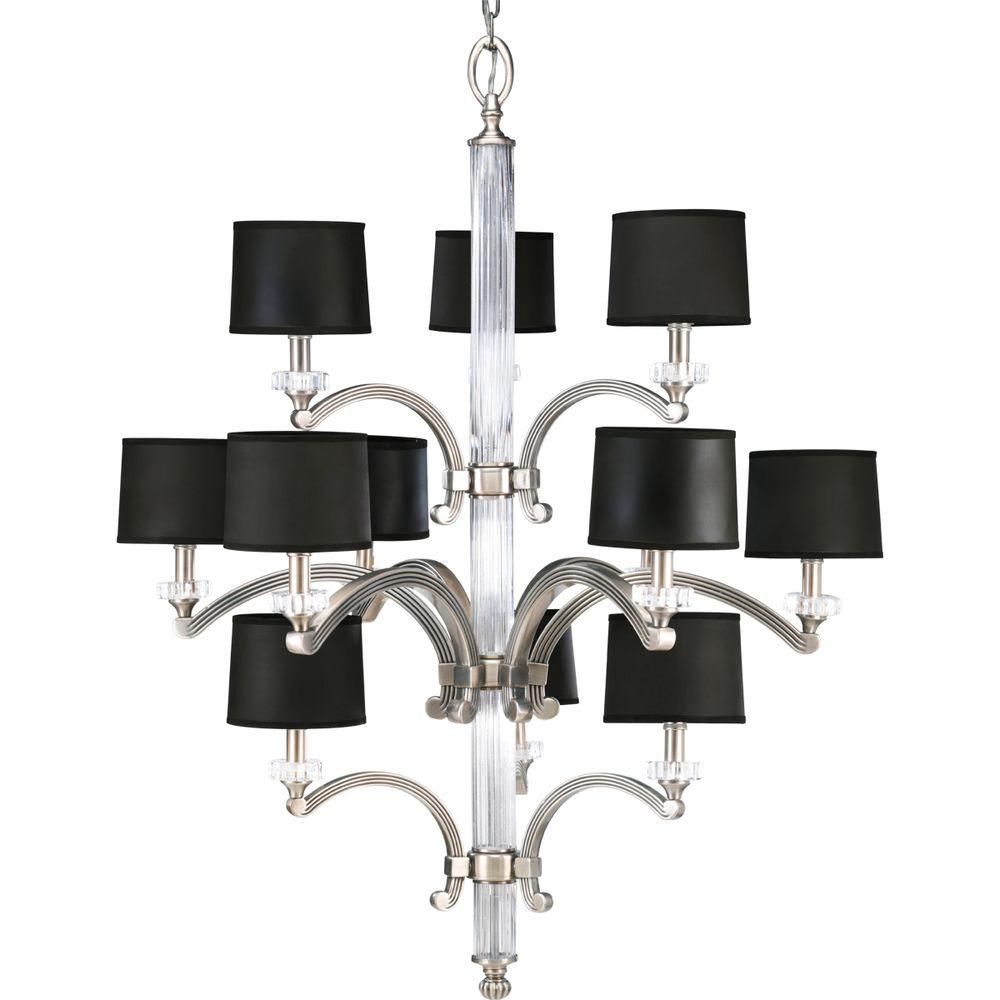 Roxbury Collection Classic Silver 12-light Chandelier
