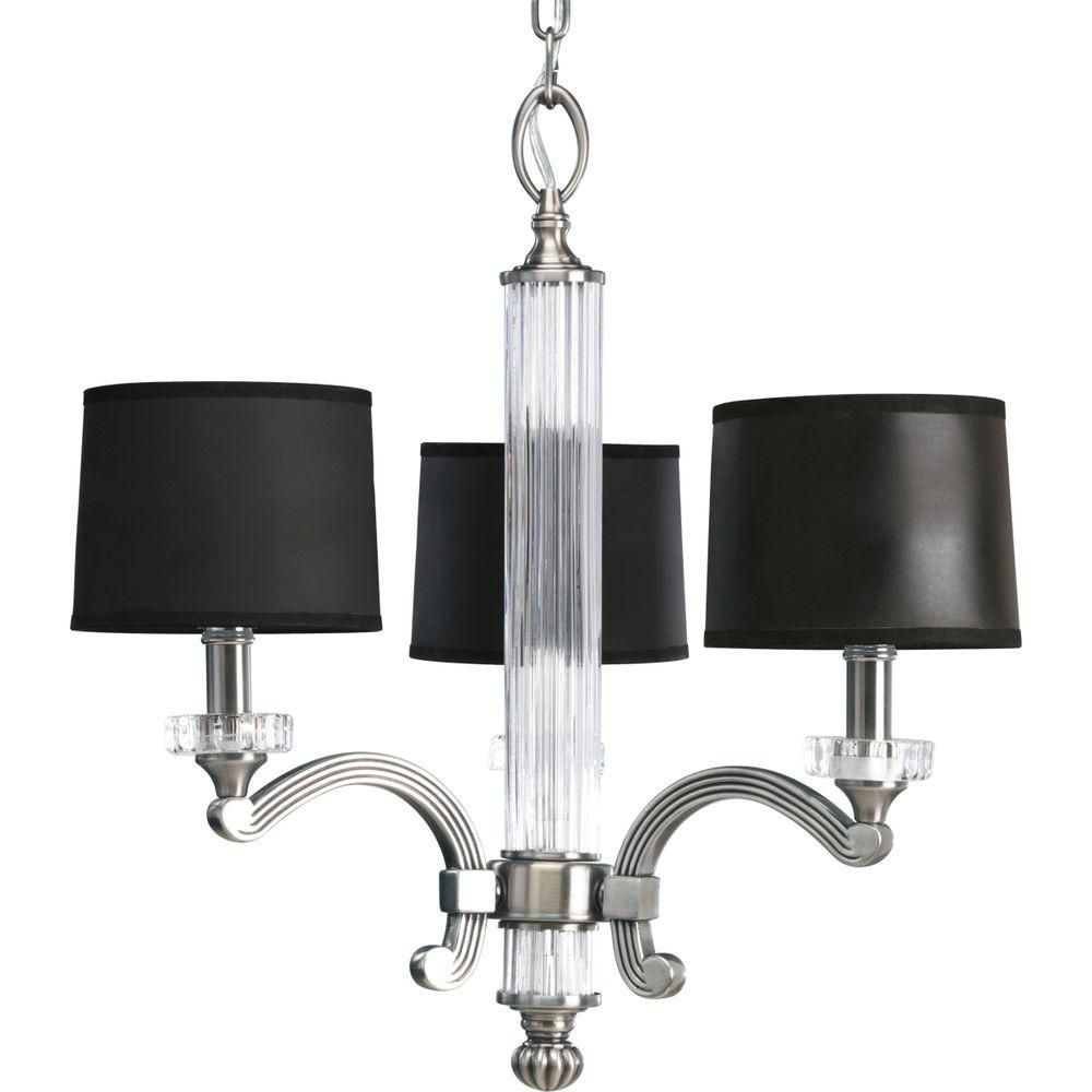 Progress Lighting Roxbury Collection Classic Silver 3-light Chandelier