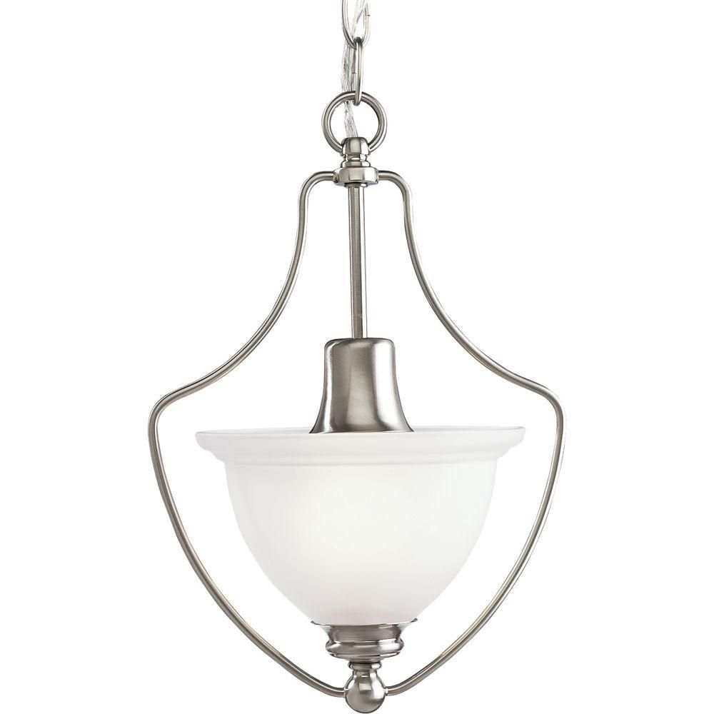 Madison Collection Brushed Nickel 1-light Chandelier