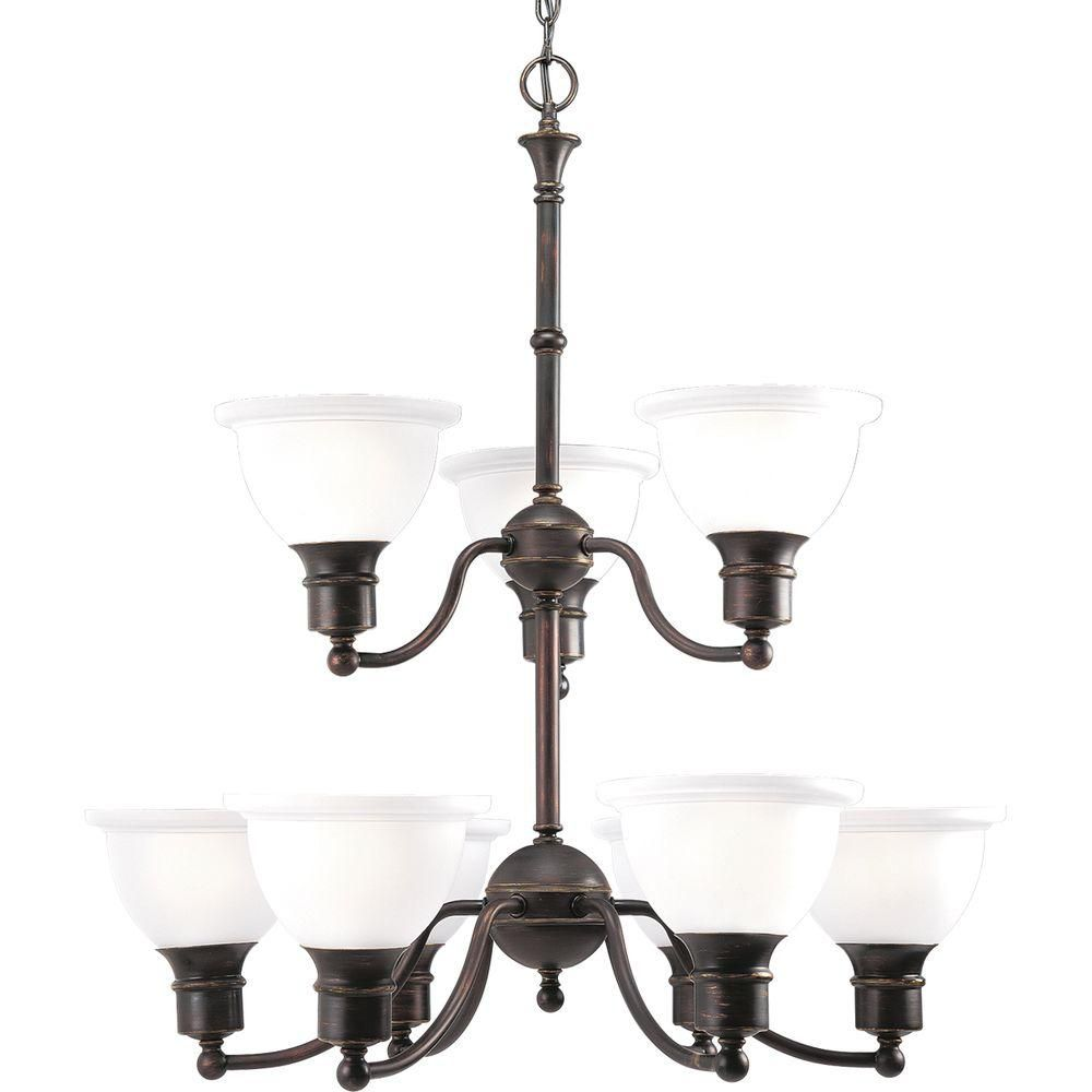 Madison Collection Antique Bronze 9-light Chandelier