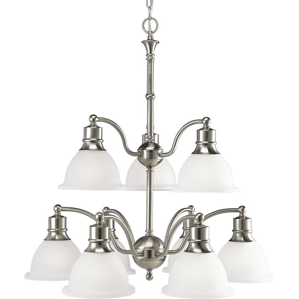 Madison Collection Brushed Nickel 9-light Chandelier