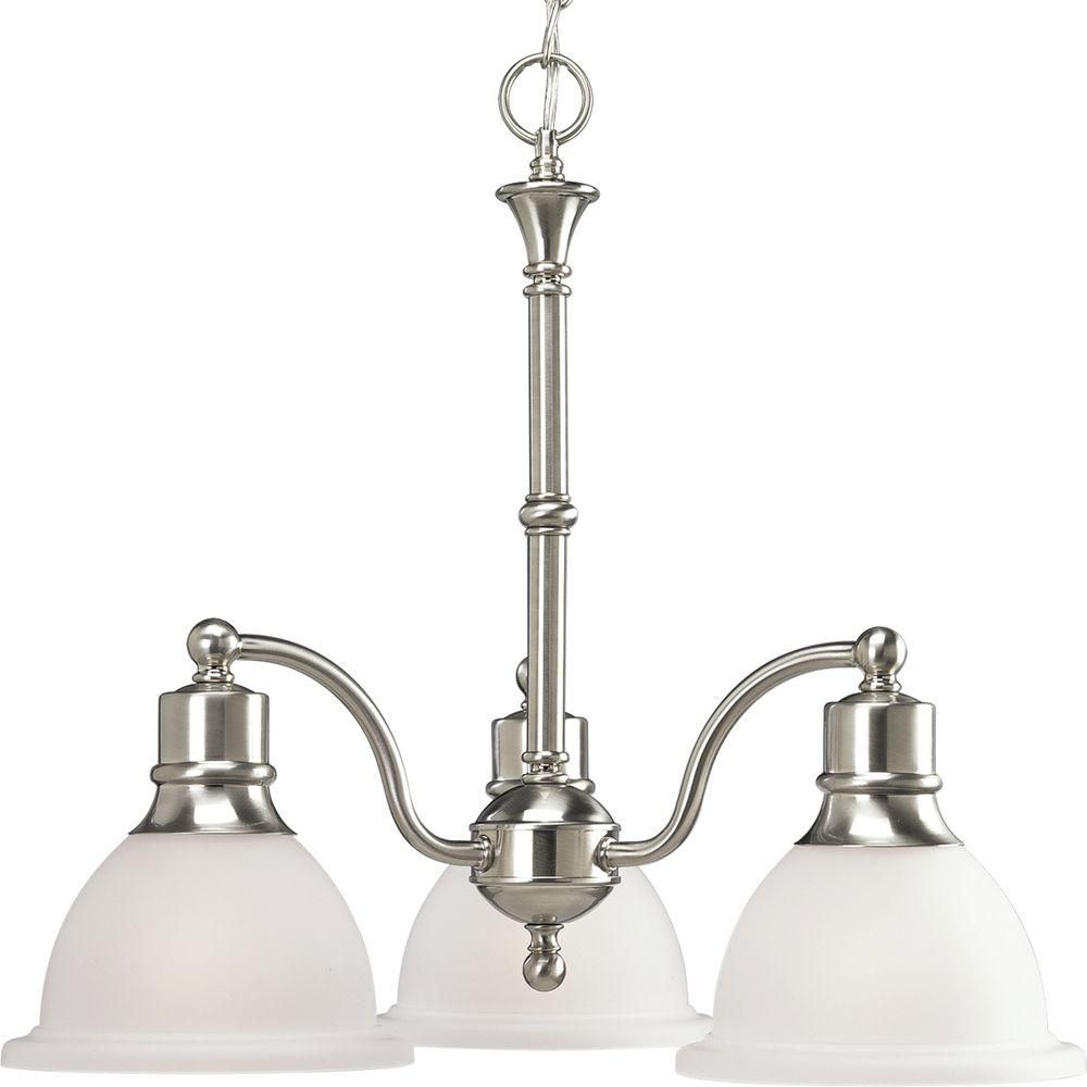 Madison Collection Brushed Nickel 3-light Chandelier