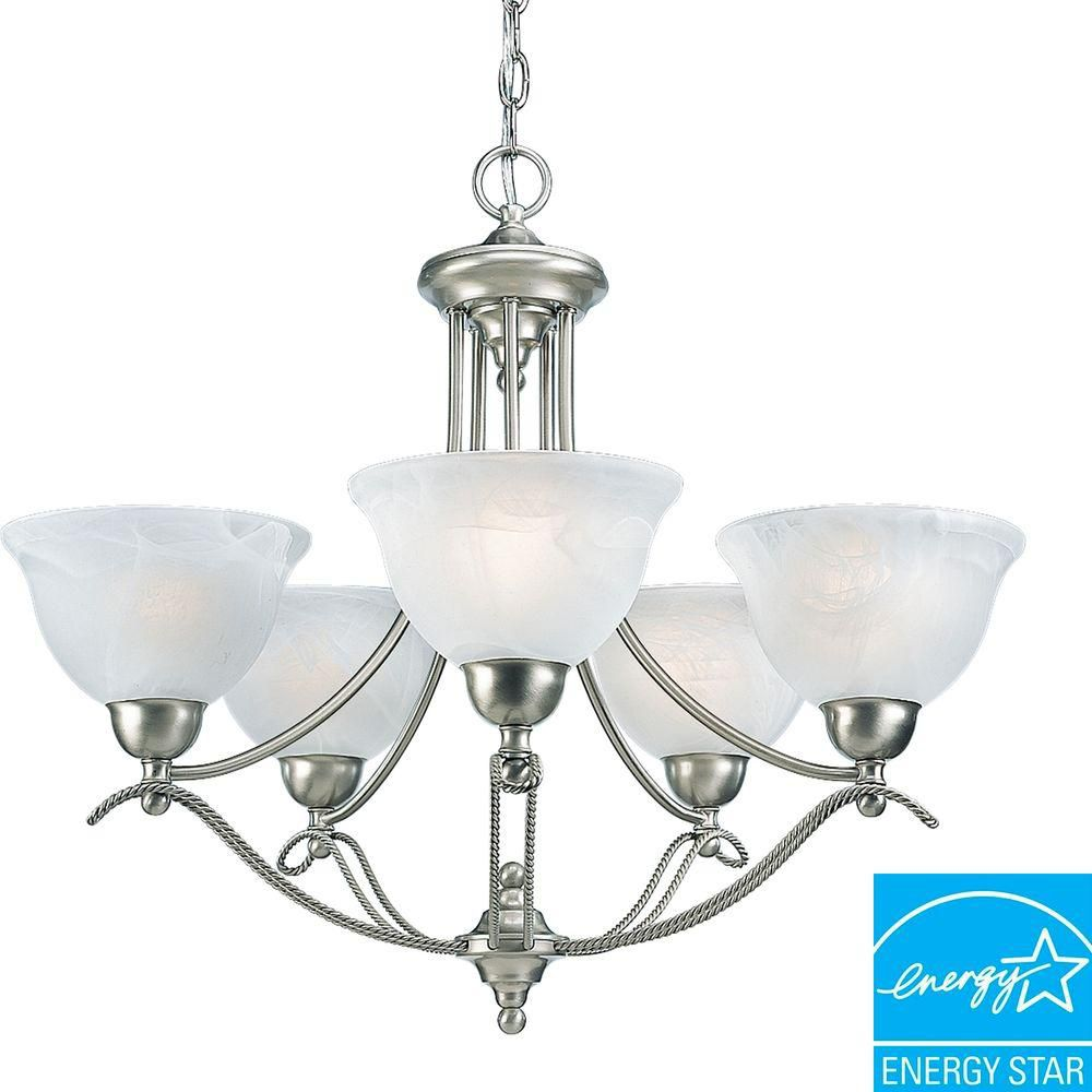 Progress Lighting Avalon Collection Brushed Nickel 5-light Chandelier