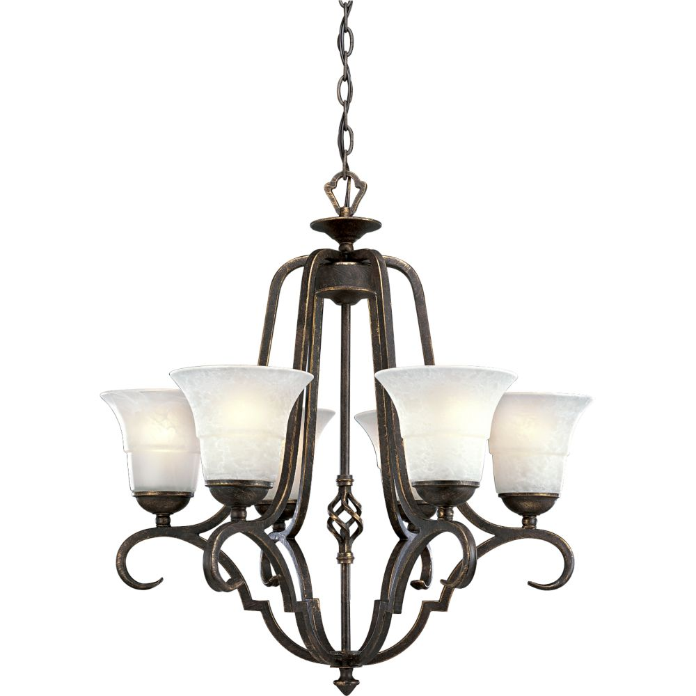 Melbourne Collection Espresso 6-light Chandelier