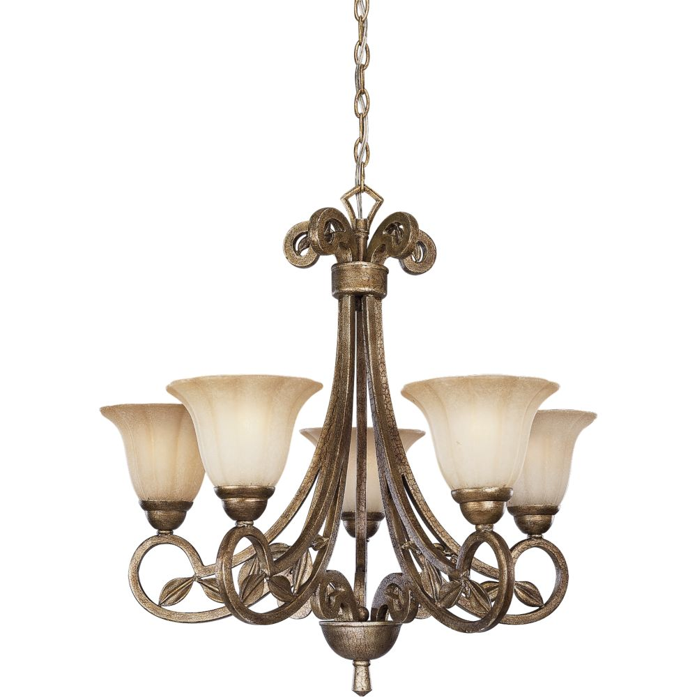 Le Jardin Collection Biscay Crackle 5-light Chandelier