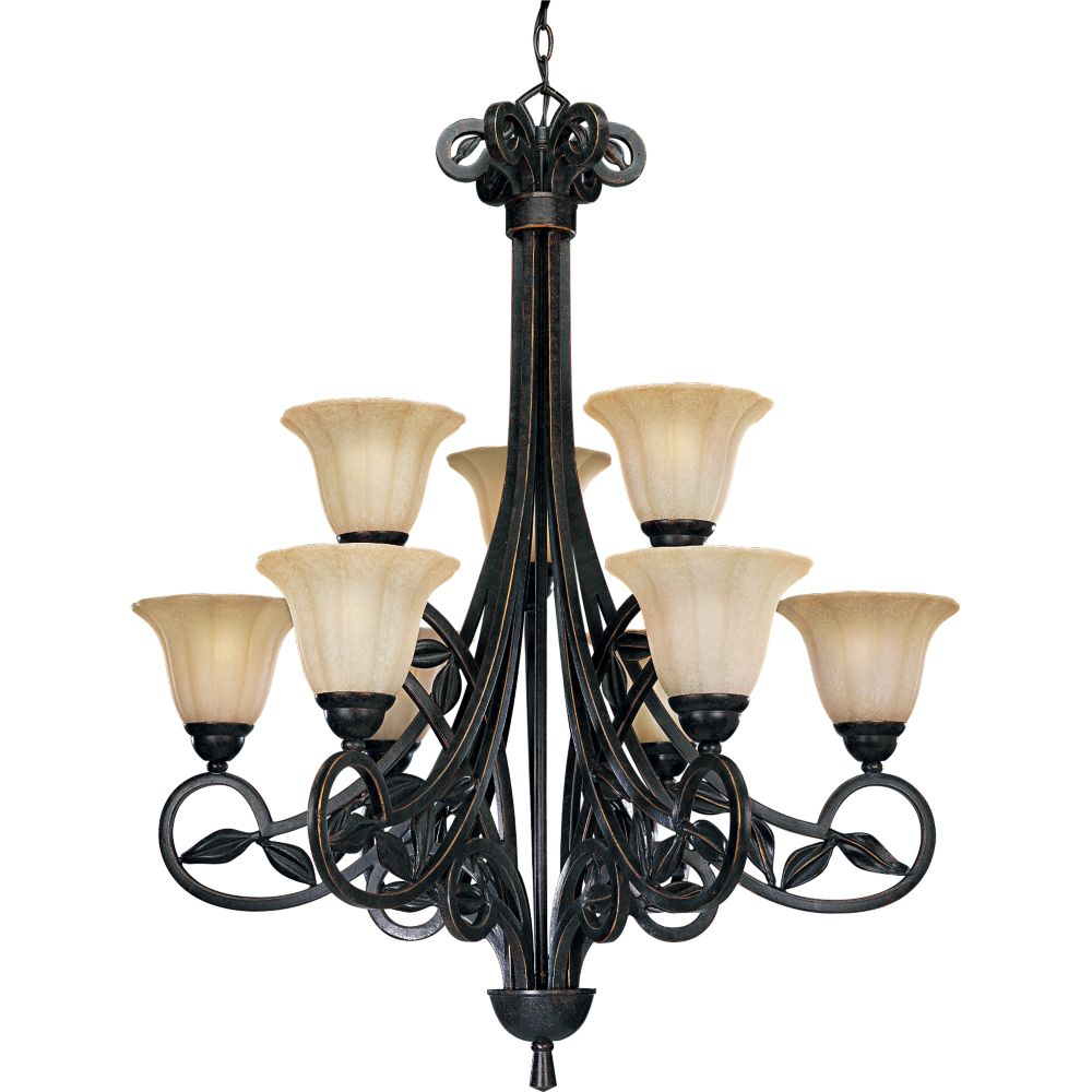 Le Jardin Collection Espresso 9-light Chandelier