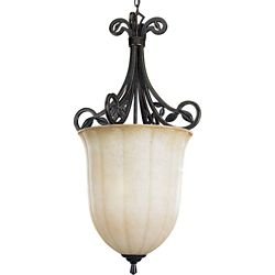 Progress Lighting Le Jardin Collection Espresso 3-light Chandelier