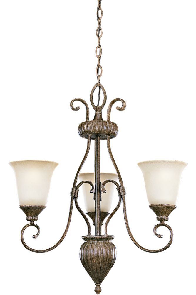 Maison Orleans Collection Fieldstone 3-light Chandelier