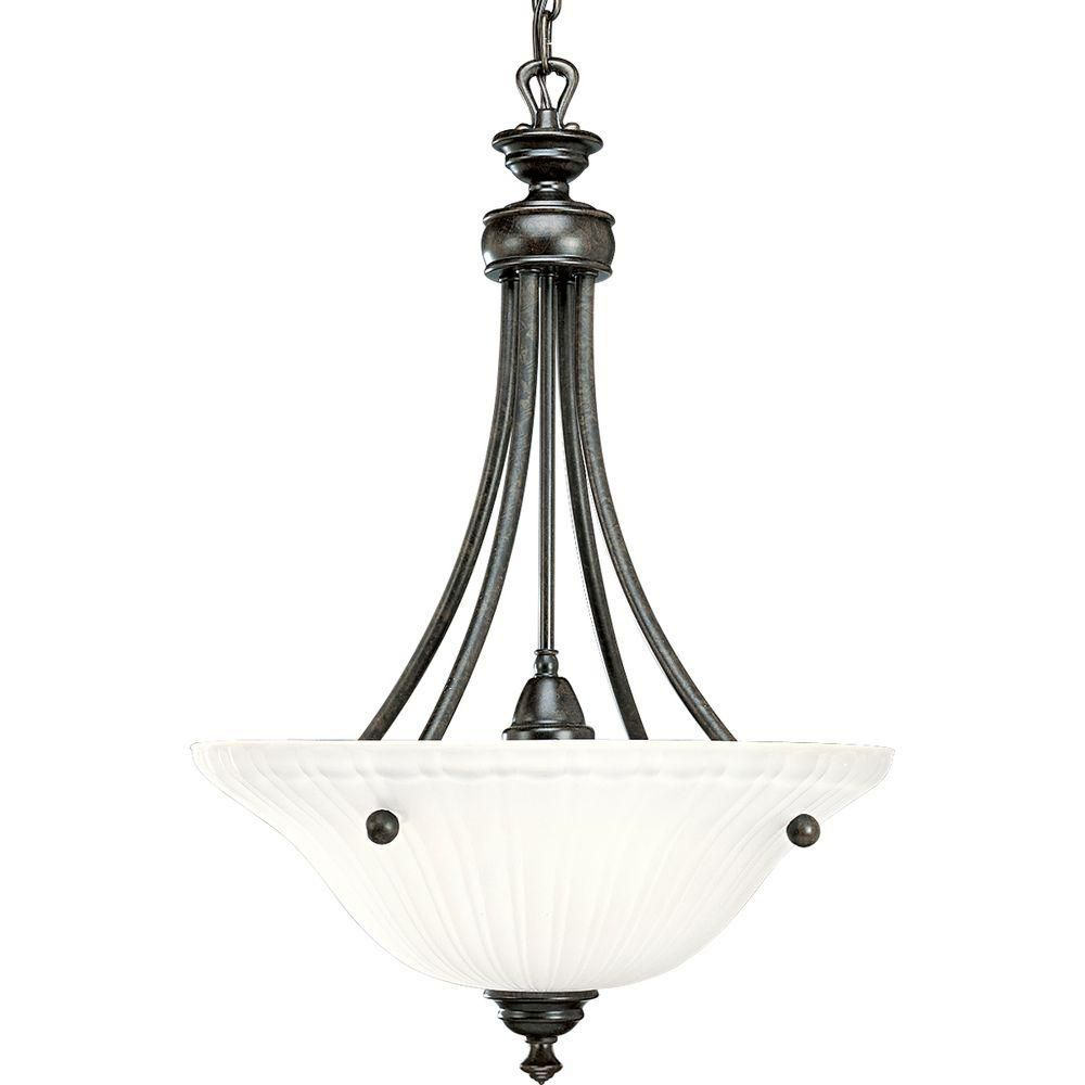 Renovations Collection Forged Bronze 3-light Foyer Pendant