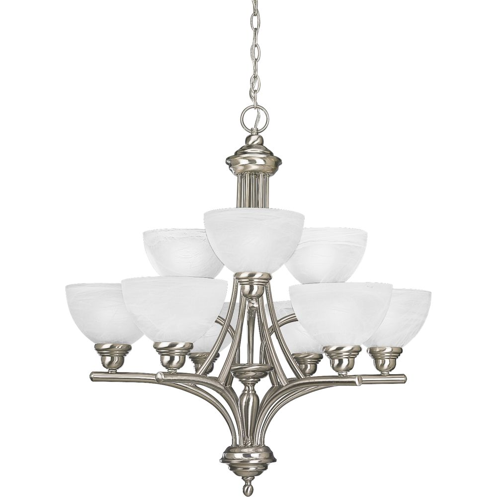 Glendale Collection Brushed Nickel 9-light Chandelier