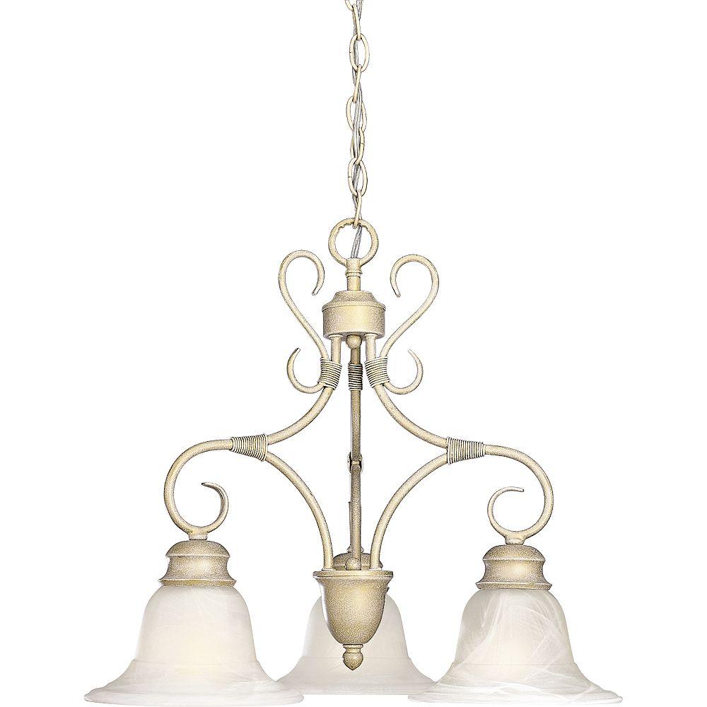 Progress Lighting Masira Collection Venetian Gold 3-light Chandelier