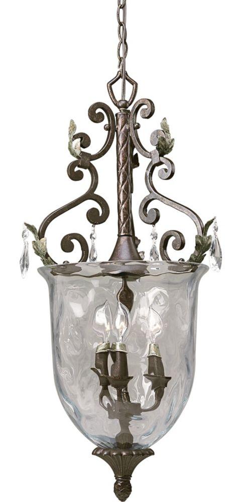 Savona Collection Cognac 3-light Chandelier