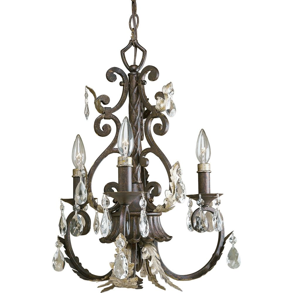 Savona Collection Cognac 3-light Chandelier