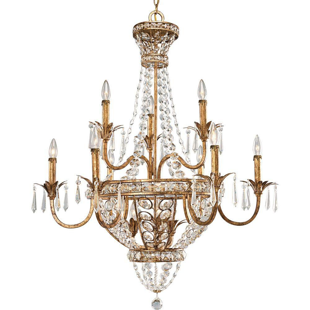 Palais Collection Imperial Gold 12-light Chandelier
