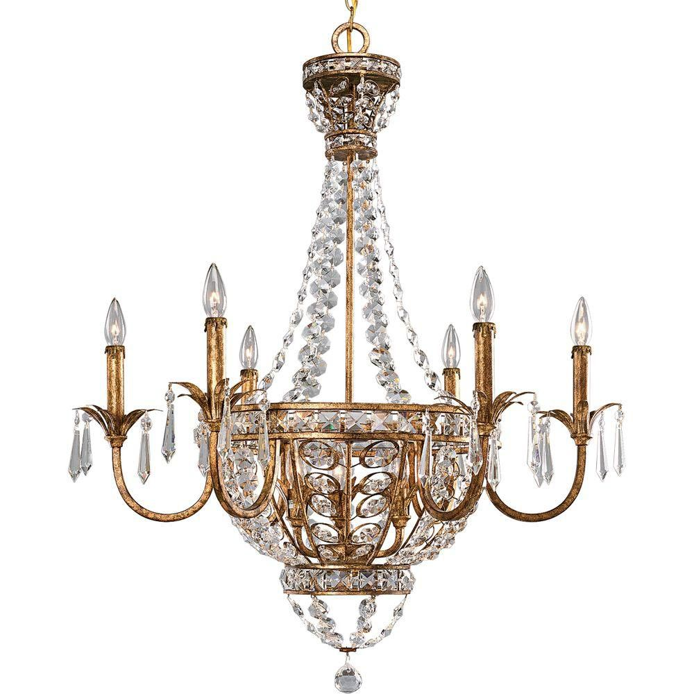 Palais Collection Imperial Gold 9-light Chandelier