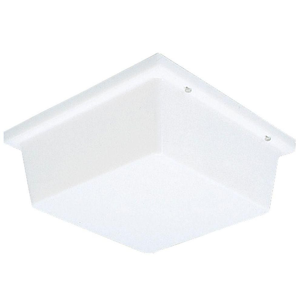 Hard-Nox Collection White 2-light Wall Lantern