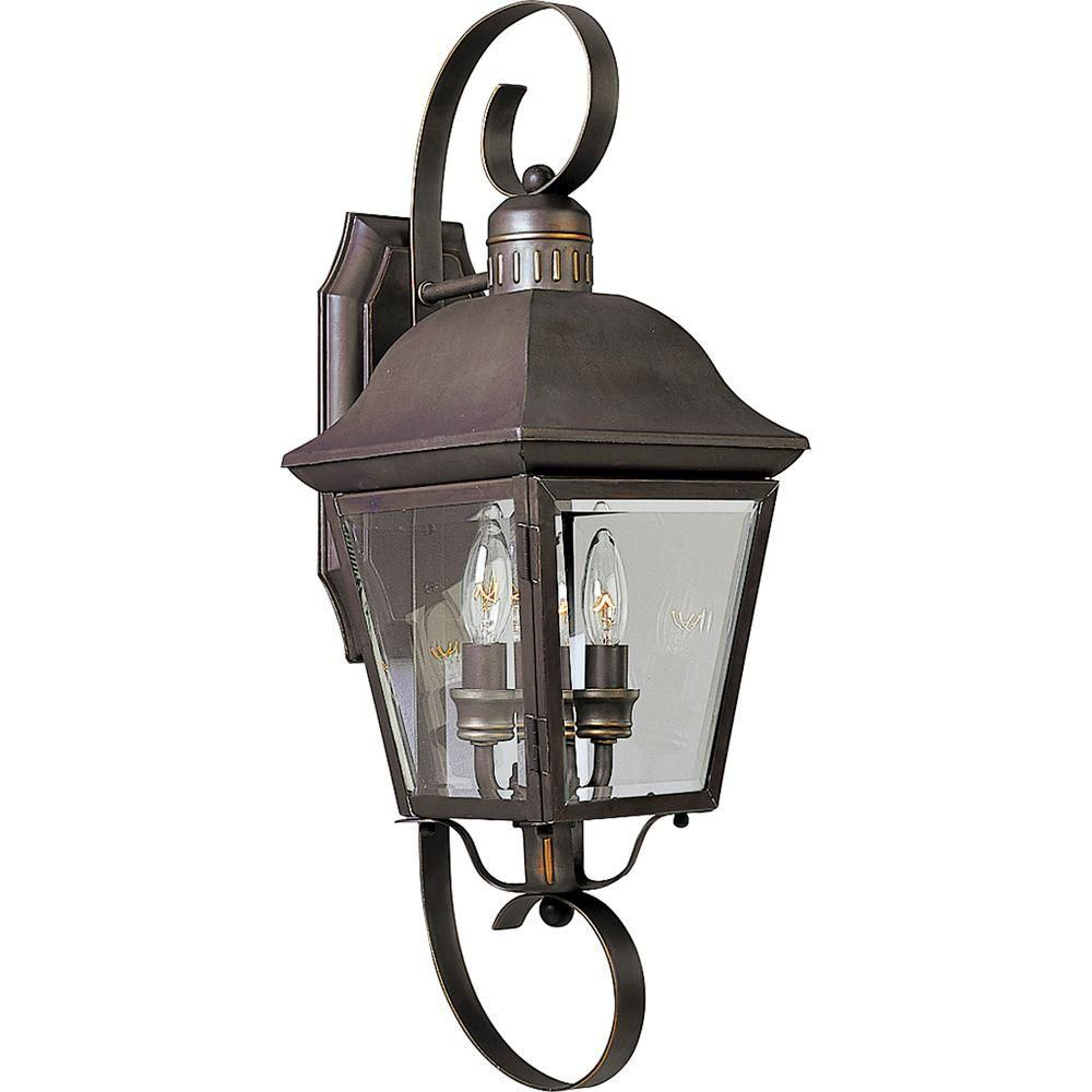 Andover Collection Antique Bronze 2-light Wall Lantern