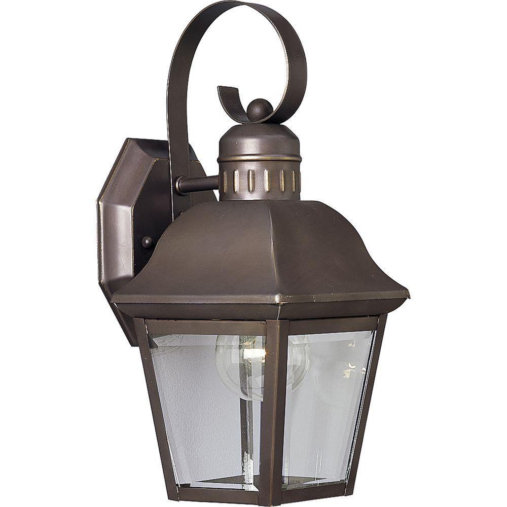 Andover Collection Antique Bronze 1-light Wall Lantern