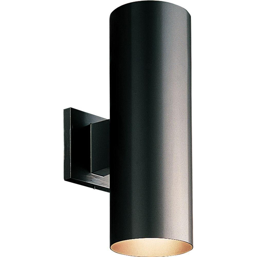 Outdoor wall lighting the home depot canada for Exterior up down wall light