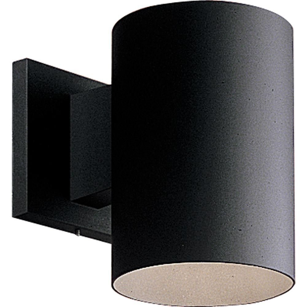 Black 1-light Wall Lantern