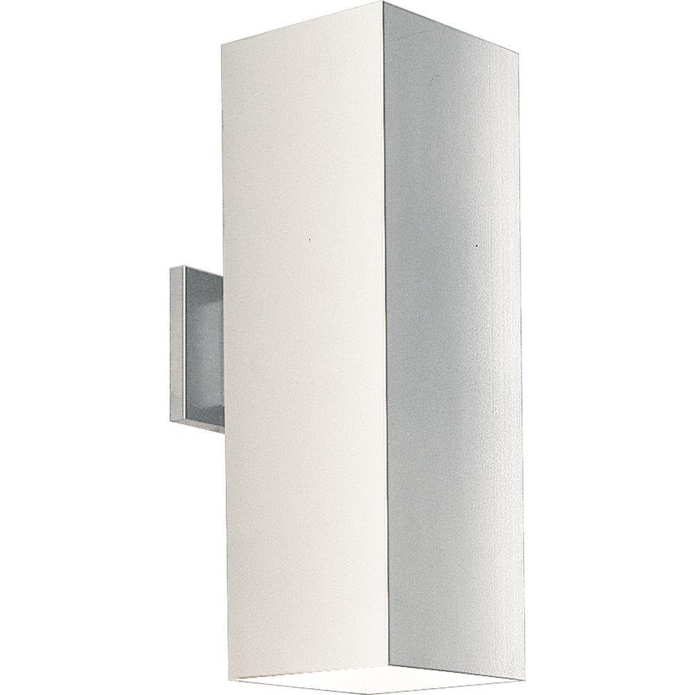 White 2-light Wall Lantern