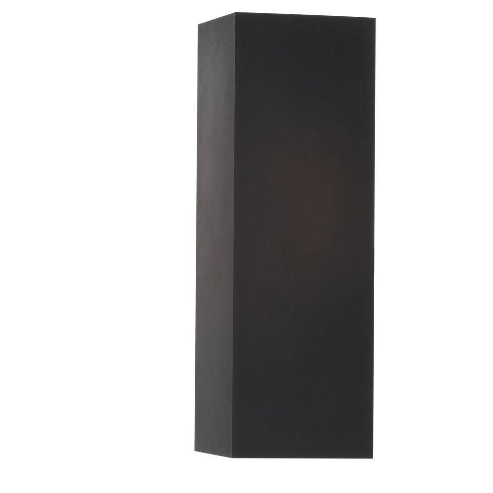 Black 2-light Wall Lantern