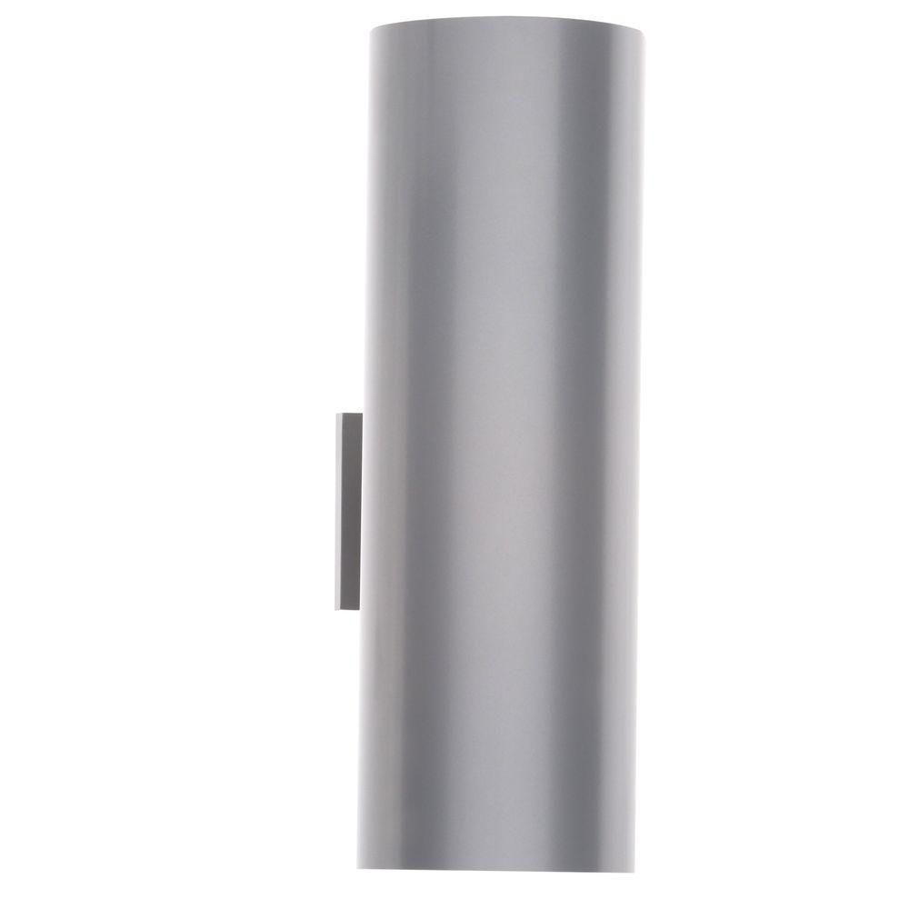 Metallic Gray 2-light Wall Lantern