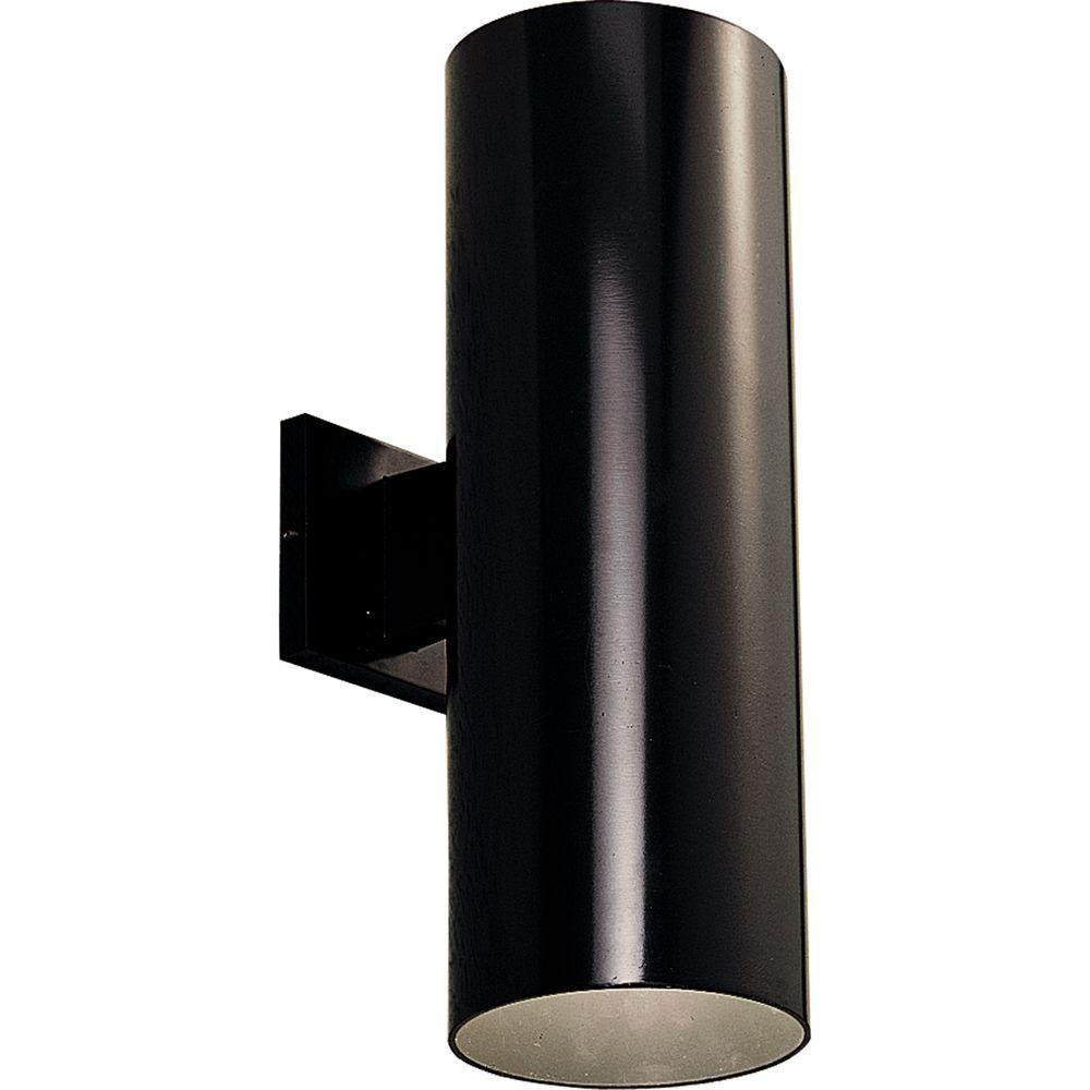 Progress Lighting Black 2-light Wall Lantern