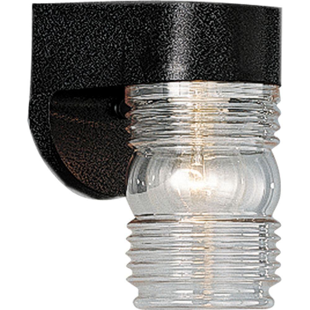 Polycarbonate Collection Black 1-light Wall Lantern