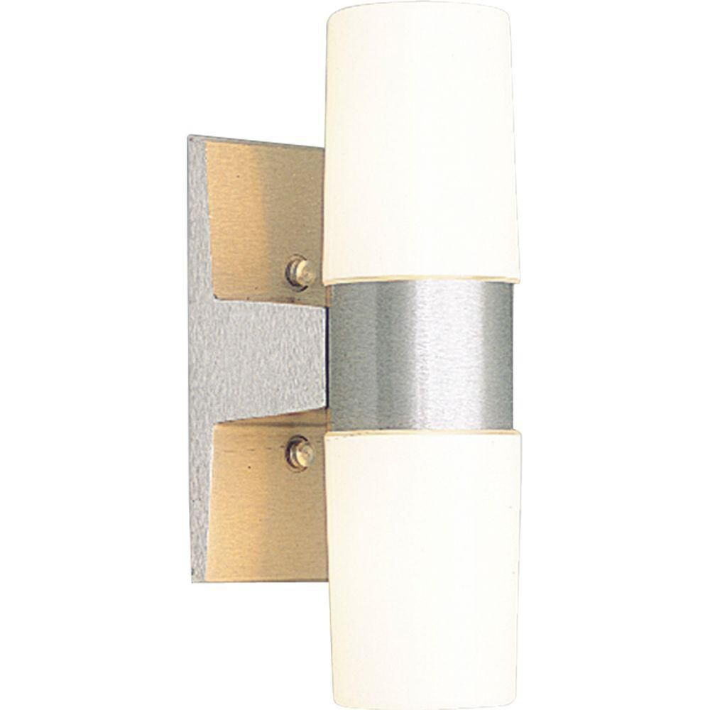 Satin Aluminum 2-light Wall Lantern