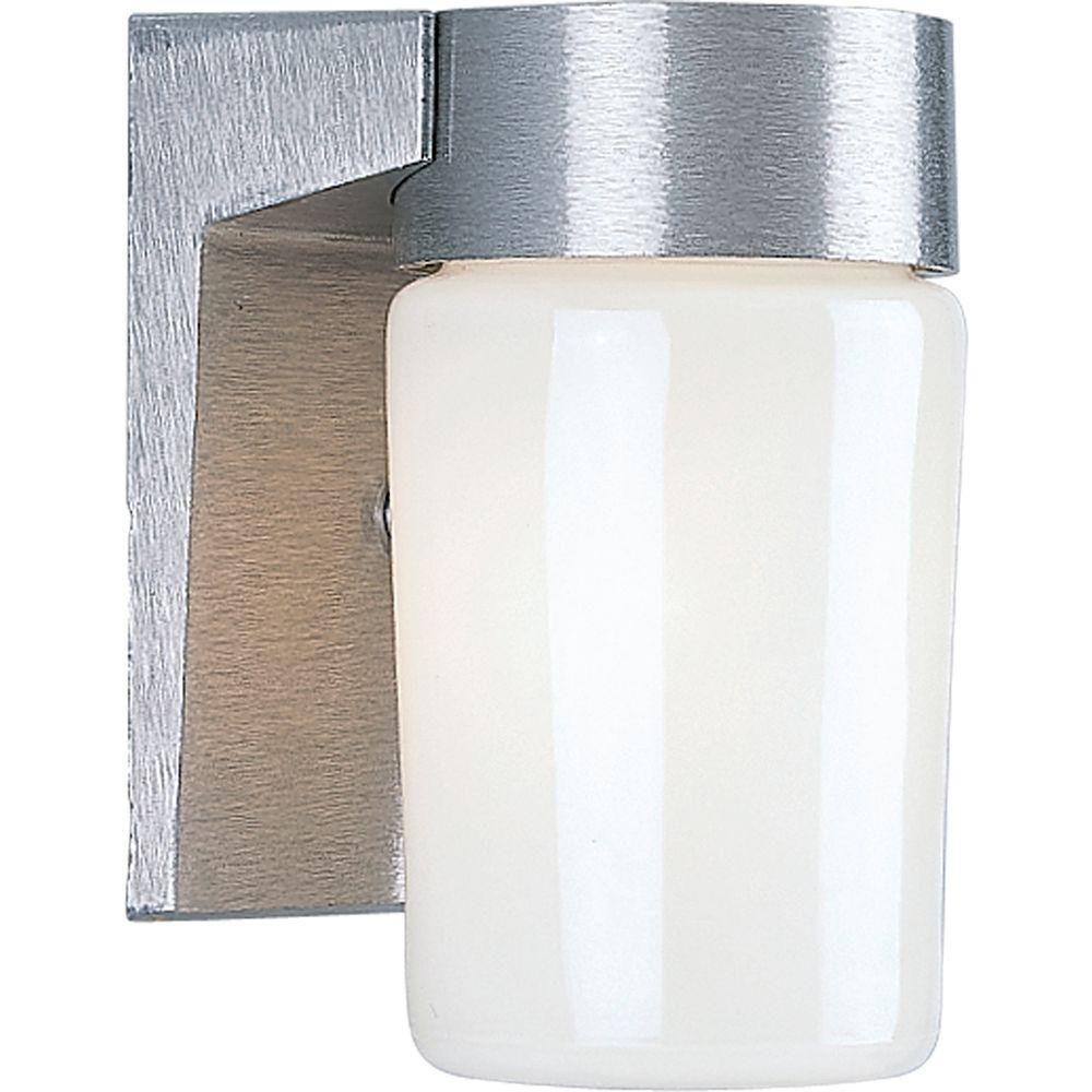 Satin Aluminum 1-light Wall Lantern