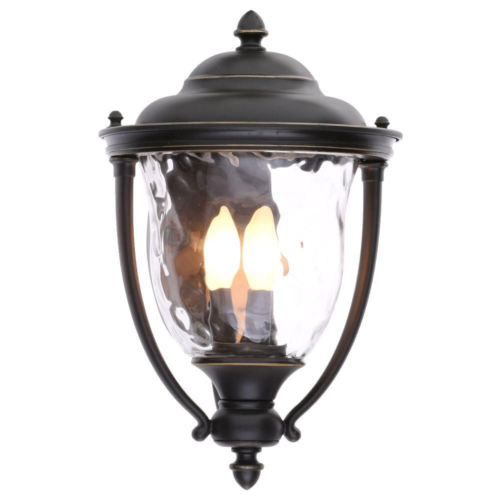 Prestwick Collection Oil Rubbed Bronze 3-light Wall Lantern