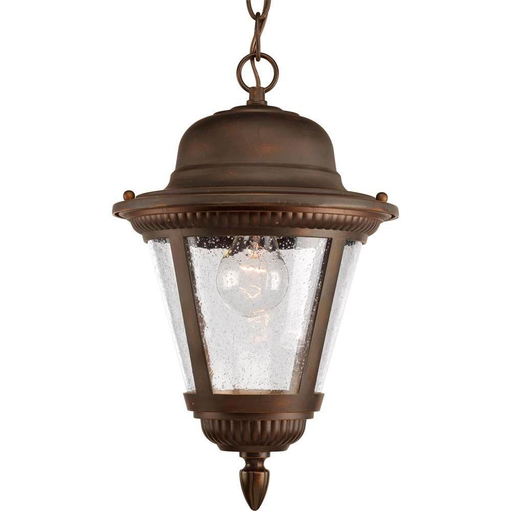 Lanterne suspendue à 1 Lumière, Collection Westport - fini Bronze à l'Ancienne