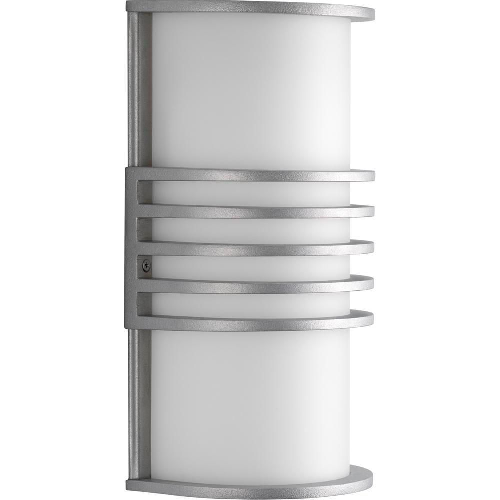 Parker Collection Satin Aluminum 1-light Wall Lantern